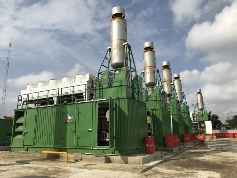 尼日利亚6MW集装箱式天然气电站